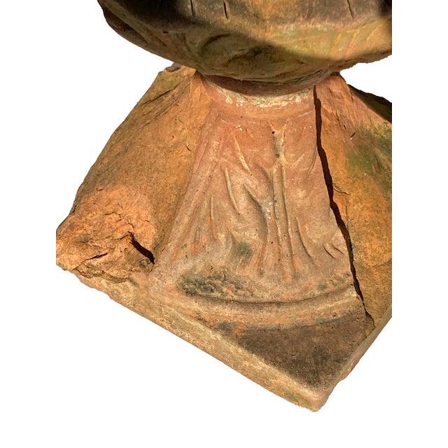 Terra Cotta Acorn Finial For Sale In Dallas - Image 6 of 9