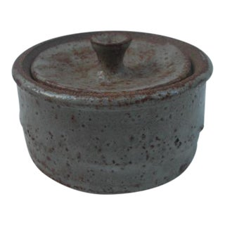 Mid-Century Style Ceramic Container With Lid For Sale