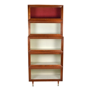 Vintage Mid-Century Modern Lawyers Stacking Barrister Bookcase For Sale
