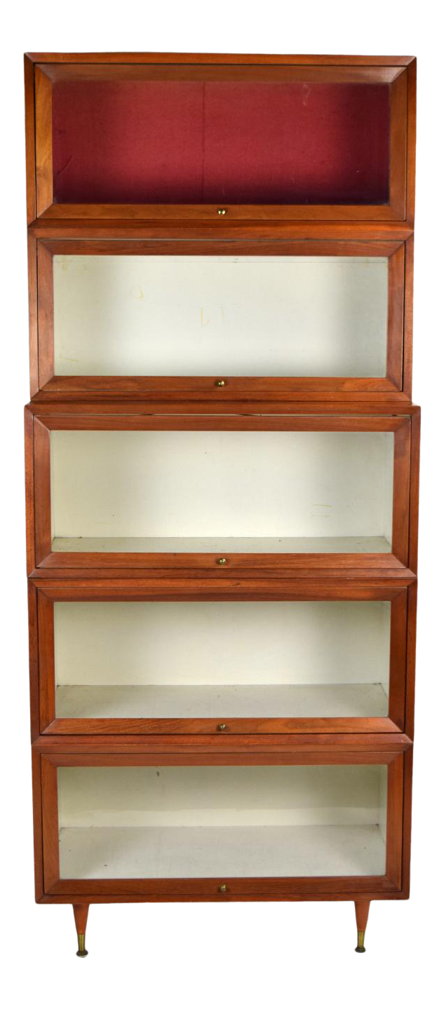 Vintage Mid Century Modern Lawyers Stacking Barrister Bookcase Chairish