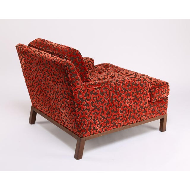 1960s 1960'S VINTAGE HARVEY PROBBER LOUNGE CHAIR & OTTOMAN For Sale - Image 5 of 10