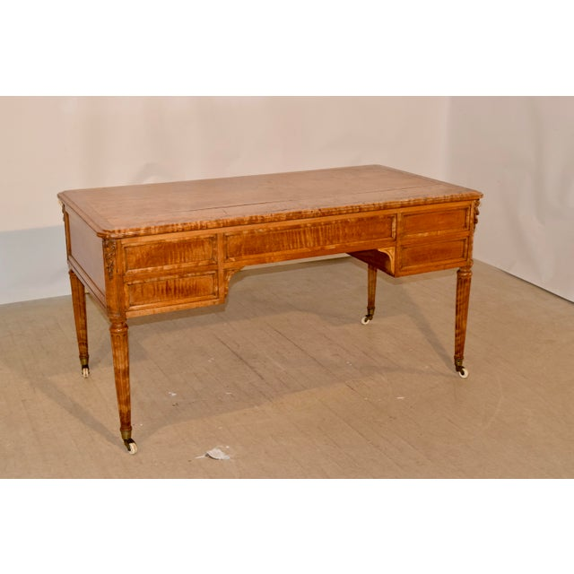 Brown 19th Century Satin Birch Desk For Sale - Image 8 of 12