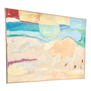 "1980s Medium Size Abstract Landscape ""Morning Promise"" by Ellen Reinkraut For Sale"