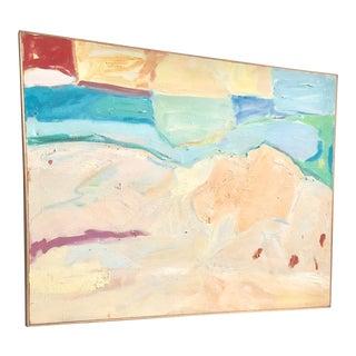 1980s Vintage Abstract Expressionist Landscape For Sale