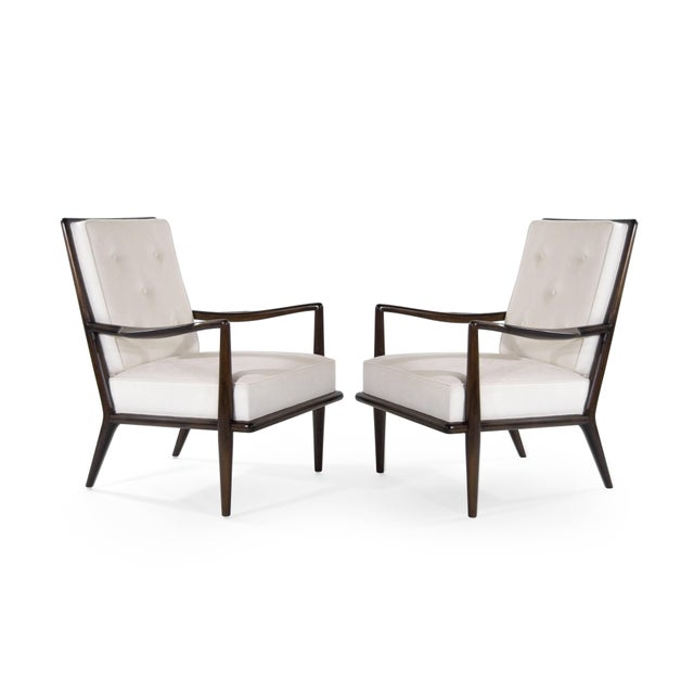 Danish Modern T.H Robsjohn-Gibbings Wing Arm Lounge Chairs - a Pair For Sale - Image 3 of 11