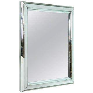 Large All-Glass Wall Mirror For Sale
