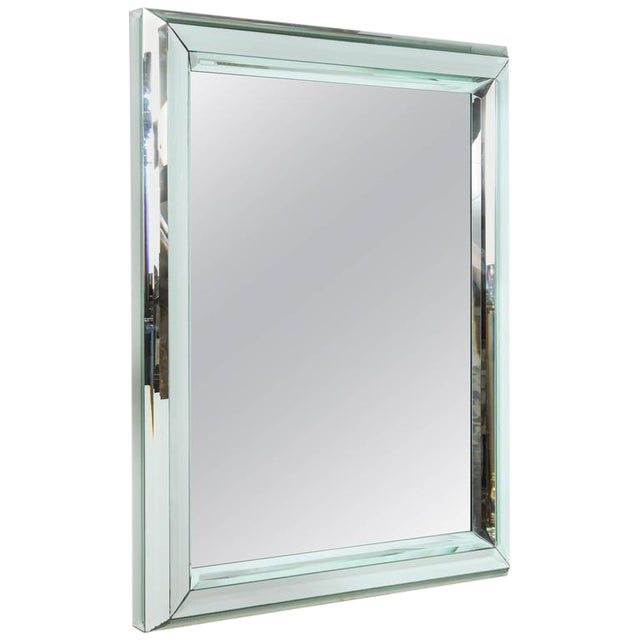 Large All-Glass Wall Mirror - Image 1 of 7