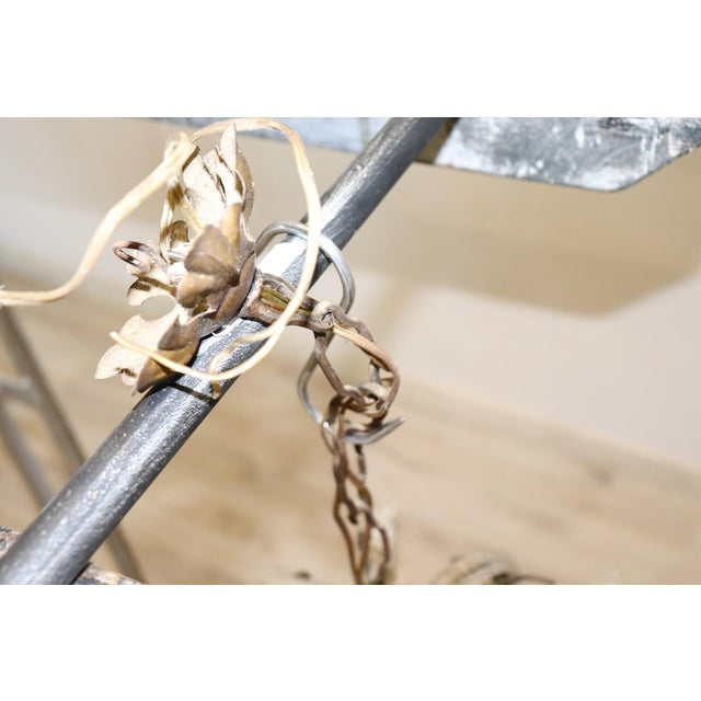 Gold 19th Century Italian Louis XVI Style Bronze and Crystals Swarovski Chandelier For Sale - Image 8 of 9