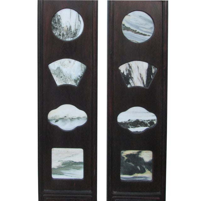 Chinese Dream Stone Scene Wall Panels - Set of 4 - Image 5 of 7