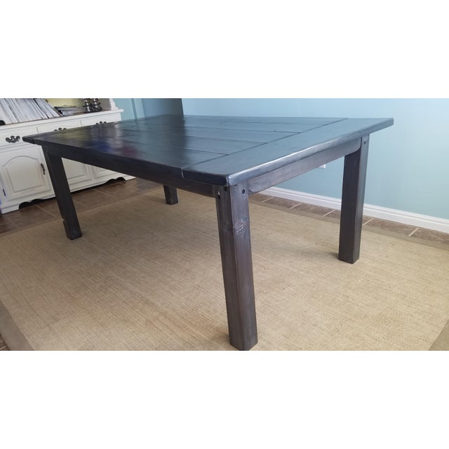 Farmhouse Pine Dining Table - Image 5 of 6