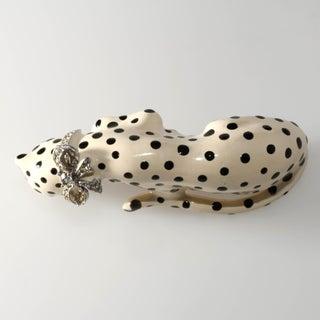Kenneth Jay Lane Enameled Snow Leopard Big Cat Shoulder Brooch Preview