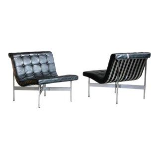 Original 1950s New York Lounge Chairs by Katavolos, Littell and Kelley - a Pair For Sale