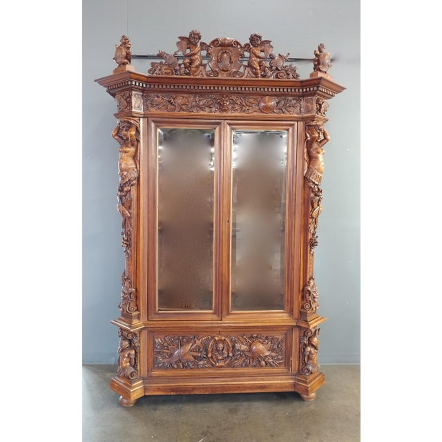 "19th century ""Highly carved"" Italian Renaissance Bookcase bookcase - Image 4 of 10"