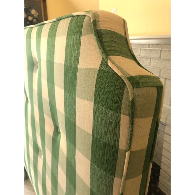 Country Style Upholstered Queen Headboard For Sale - Image 4 of 6
