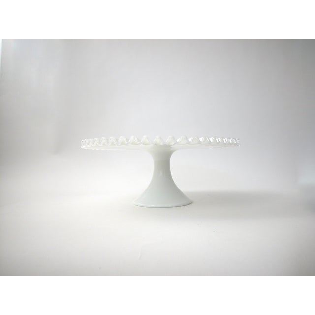 Fenton Silver Crest Cake Stand For Sale - Image 7 of 7