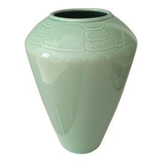 20th Century Art Nouveau Arita Celadon Vase