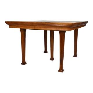 1905 Art Nouveau Walnut Dining Table For Sale