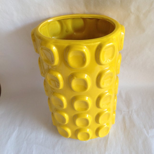 Modern Yellow Ceramic Vase - Image 5 of 10