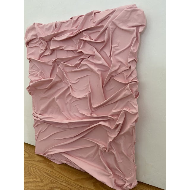 Contemporary Contemporary Minimalist Light Pink Abstract Textural Painting by Jordan Samuels For Sale - Image 3 of 11