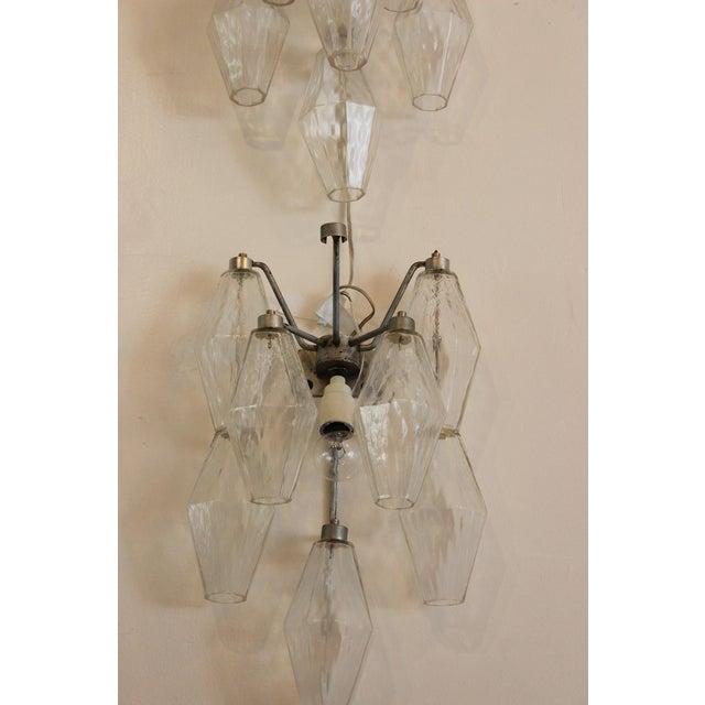 Venini Venini Polyhedral Murano Glass Sconces - a Pair For Sale - Image 4 of 4