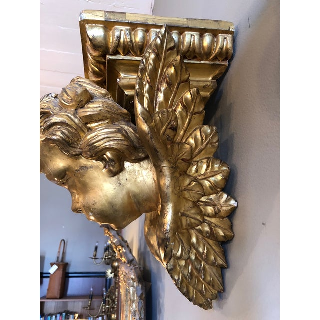 19th Century Italian Baroque Style Gilt Wood Wall Brackets - a Pair For Sale - Image 9 of 13
