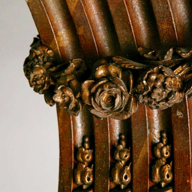 Large French Carved Wood and Gilded Corbel - Image 5 of 6