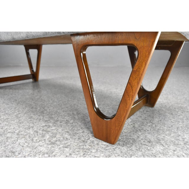 Sculpting Mid-Century Modern Upholstered Bench For Sale - Image 7 of 10