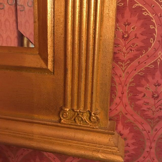 Burnished Gold Gilt Wood Beveled Mirror For Sale In Philadelphia - Image 6 of 10