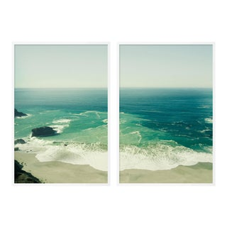 Big Sur Diptych by Christine Flynn in White Framed Paper, Medium Art Print - A Pair For Sale