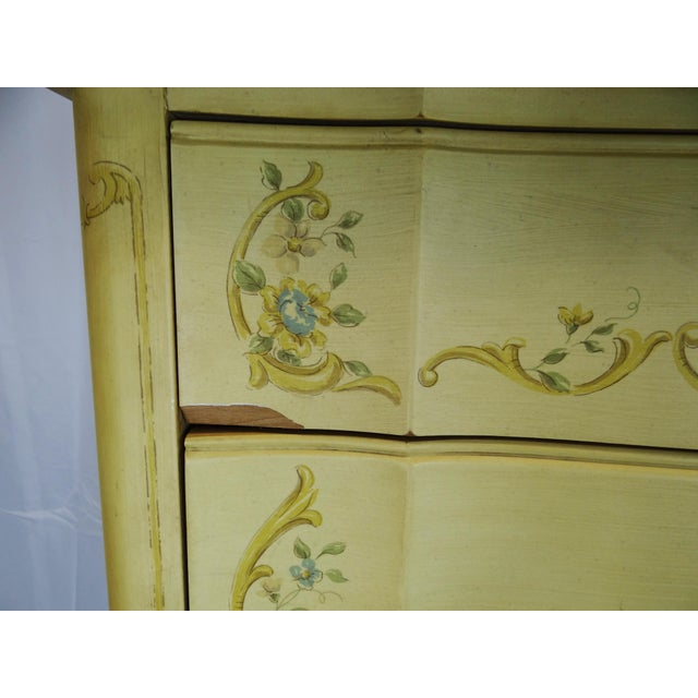Yellow 1940s Vintage Heritage French Provincial Style Dresser For Sale - Image 8 of 10