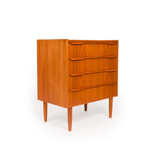 Danish Modern Vintage Danish Mid-Century Four Drawer Chest For Sale - Image 3 of 8