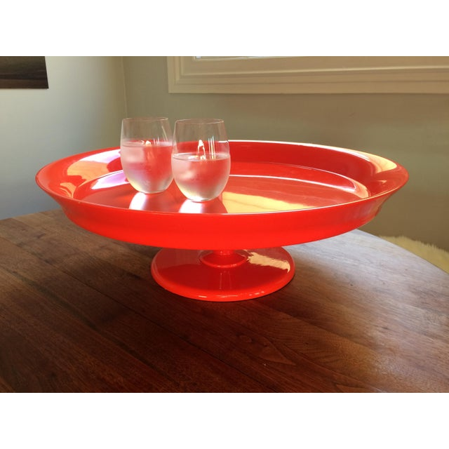 Serena & Lily Flame Pedestal Tray - Image 6 of 10