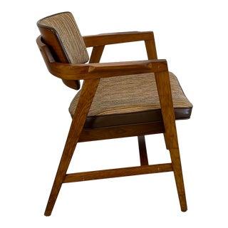 Mid-Century Modern Solid Walnut Chair by Gunlocke For Sale