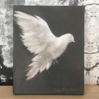 """""""White Dove, No.2"""" Original Painting by Donna Hughes Preview"""