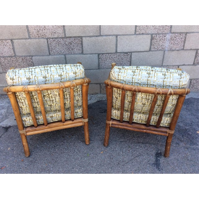 Vintage McGuire Chairs- A Pair For Sale - Image 9 of 11