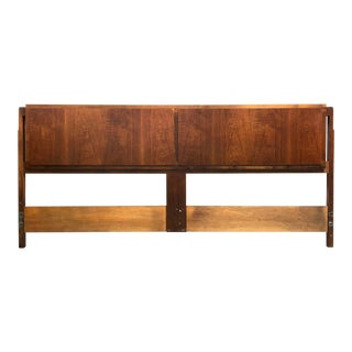 Mid Century Modern Teak King Size Headboard For Sale