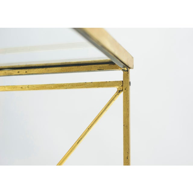 French Neoclassical Maison Jansen Gilded Iron Bar Cart 1960s For Sale - Image 9 of 12