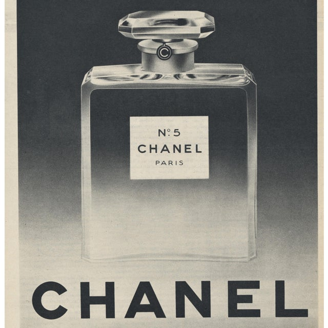 Original Mid Century Chanel No 5 Perfume Print Chairish