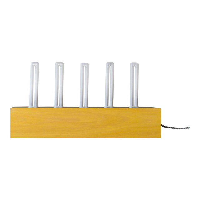 """Ettore Sottsass """"Pattica"""" Yellow Maple Table Lamp For Sale"""