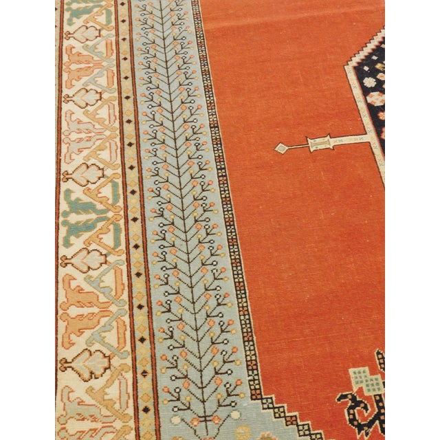"""Red Hand-Knotted Turkish Serapi Rug - 8'7""""x 12' For Sale - Image 8 of 12"""