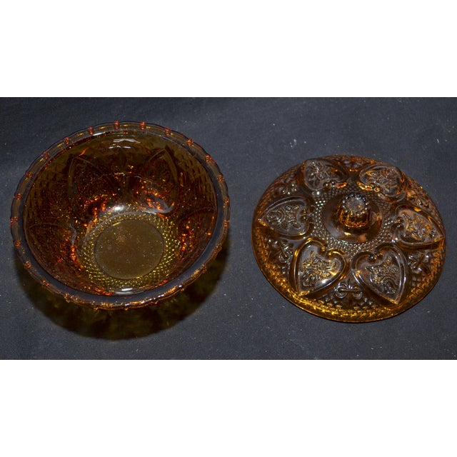 Anchor Hocking Renaissance Amber Glass Covered Dish - Image 5 of 7