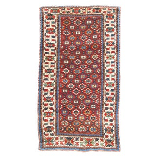 Orange & Blue Karabagh Rug - 4′1″ × 10″ For Sale