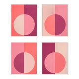 "Image of XL ""Pink Forevers, Set of 4"" Print by Stephanie Henderson, 50"" X 62"" For Sale"