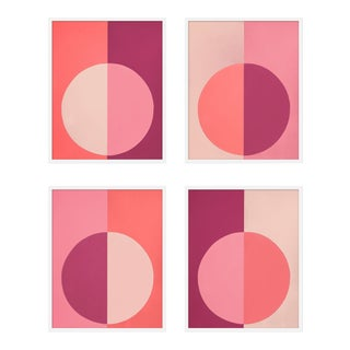 "XL ""Pink Forevers, Set of 4"" Print by Stephanie Henderson, 50"" X 62"" For Sale"