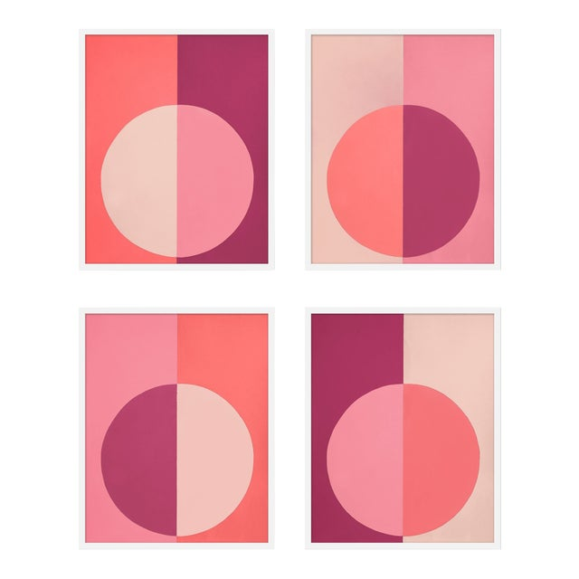 """XL """"Pink Forevers, Set of 4"""" Print by Stephanie Henderson, 50"""" X 62"""" For Sale"""