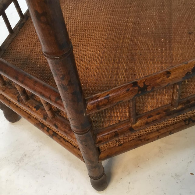 1960s Asian Bamboo Hexagonal Occasional Table For Sale In Providence - Image 6 of 10