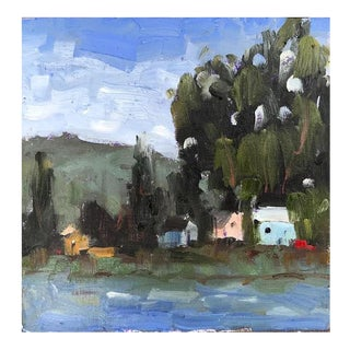 Suisun City Marina Plein Air Oil Painting For Sale