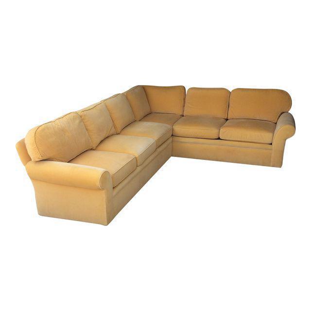 Lee Jofa Down Filled Sectional Sofa Chairish