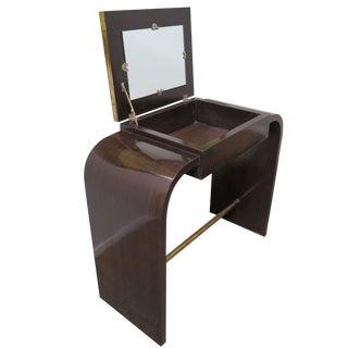 Art Deco Vanity Walnut With Mirror For Sale