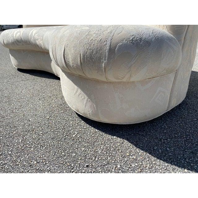 Biomorphic Kidney Bean Shape Sofa, Vladimir Kagan Style For Sale - Image 10 of 12